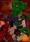 Hulk Family WIth Uncle Juggernaut by OgonoArtFamily