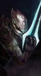 Halo Elite with energy sword by pandanomium