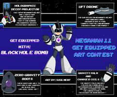 Mega Man 11 Get Equipped Contest: Blackhole bomb by Soulment
