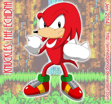 Knuckles the Echidna by JenHedgehog
