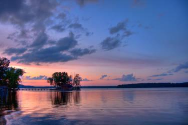 Minocqua Arbor Vitae Sunset by jvrichardson