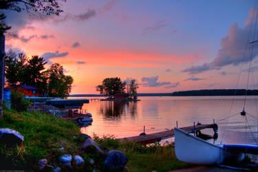 Sunset on Lake Arbor Vitae by jvrichardson