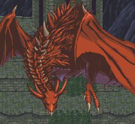 Dark Souls - Hellkite Wyvern by Zedotagger