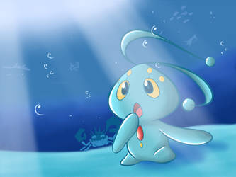 Pokemon - Manaphy, Prince of the Sea by KAIZA-C