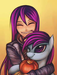 OC Pony Personification and hug by Coke-brother