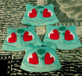 Bulbasaur Themd Hats by Jacqueline-Victoria