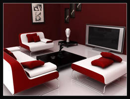 Clean Room-Red Colour Scheme by fais3000