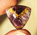 awesome amethyst cacoxenite cabochon by tattoopink