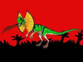 Dilophosaurus from Jurassic Park by TrefRex