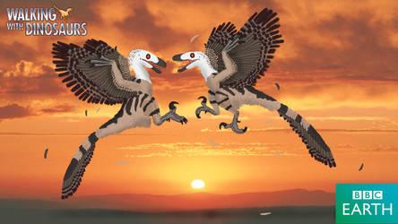 Walking with Dinosaurs: Deinonychus by TrefRex