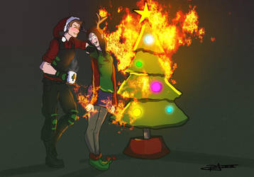 Christmas Fire by UmbrellaSpecter