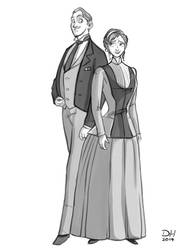 MR AND MRS JONATHAN HARKER by Libra1010