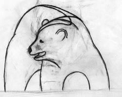 embarrased bear by Cowlinator