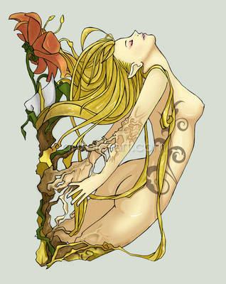Flower Girl by anxela-art