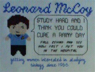 Dr McCoy Motivational X-Stitch by black-lupin