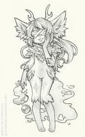 Chibi Pencil Drawing:  Pluto [2/6] by Gaz-Monster