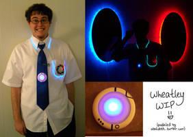 Wheatley cosplay: WIP by Emmalyn