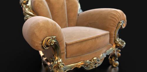 ornate-suede-chair-II by ViraA
