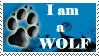 I'm a Wolf - Stamp by theBravewolf