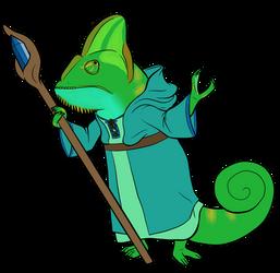 Chameleon Illusionist by lionsilverwolf