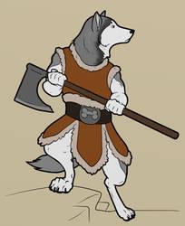 Siberian Barbarian by lionsilverwolf