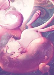 Bubblegum cat (Some prints available online!) by Unikeko