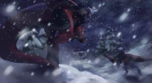 Through the snowstorm by Unikeko