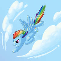 Dashing Through the Clouds by Strange-ThingsHappen