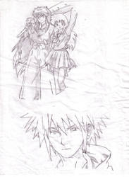 Inuyasha, Kagome and Yondaime by intothemulberry