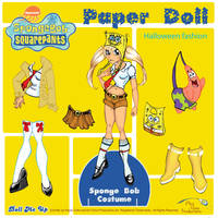 Sponge Bob Paper Doll Fashion by artchica83
