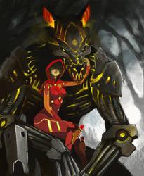 Li'l Red and The Big Bad Wolf by LasloLF