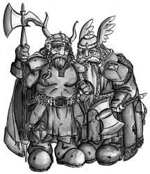 old Dwarves by Lilliath