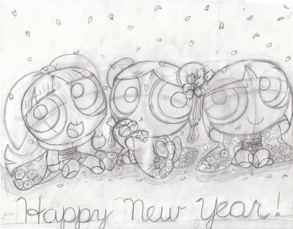 Happy New Year,from the PowerPuff Girls! by Redfern05