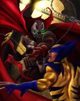 Spawn vs Wolverine by Daviddleonluis