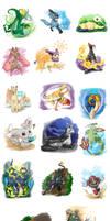 Livestream .:17 Pokemon color:. by PEQUEDARK-VELVET