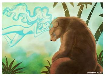 Good bye Bear by PEQUEDARK-VELVET