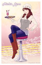 ArtTrade .: Pin Up girl Michie:. by PEQUEDARK-VELVET