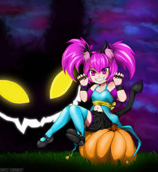 Nya!!! Halloween Is Scary. by Emerii