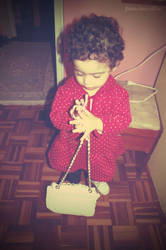 Clarice carrying my handbag by pin-ki