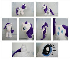 MLP: Rarity Plushie - Alternate Views by MLPPlushies