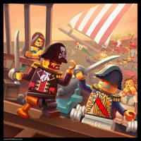 Lego: Pirate Painting by Emosktr