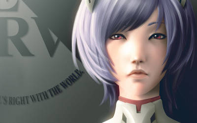 Ayanami Rei Face Detail by lenadrofranci