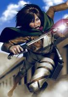 Mikasa Ackerman by lenadrofranci