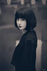 Short haired girl by lenadrofranci