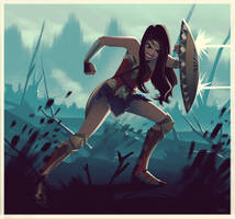 Wonder Woman in No Man's Land by lenadrofranci