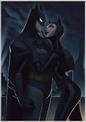 Batman and Catwoman by lenadrofranci