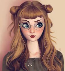 Portrait of Jerina by lenadrofranci