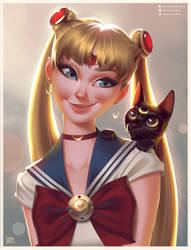 Sailor Moon Portrait by lenadrofranci