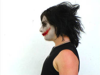 Me with Joker make-up. by PigAndreas