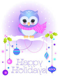 Owl Holiday card by minercia